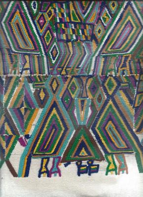 Detail Huipil Guatemala blau